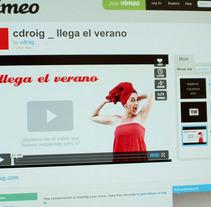 llega el verano. Un proyecto de Diseño, Publicidad, Desarrollo de software, Cine, vídeo y televisión de Chary Esteve Vargas - 24-03-2013