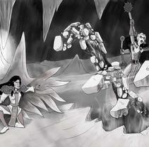 Qiahn: Lucha de magos. A Illustration project by Miguel Ozonas Gregori - 16-04-2013