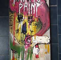"""""""Born to paint"""". A Design, Illustration, Installations, and Photograph project by ZANART - 20-04-2013"""