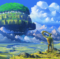 LAPUTA: CASTLE IN THE SKY. A Illustration project by Roberto Nieto         - 30.04.2013