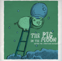 THE PIG ON THE MOON. A Illustration project by Jonathan Romero Ruiz         - 16.05.2013