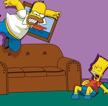 Los Simpsons. Un proyecto de Diseño y Ilustración de David Rodríguez - 08.06.2013