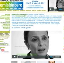 Emisión Cero. Un proyecto de Diseño, Publicidad y Desarrollo de software de Carlos Cano Santos - 26-06-2013