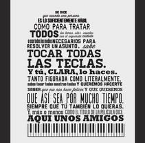 Regalo de Clara. Un proyecto de Diseño editorial de Adriana Castillo García         - 22.12.2011