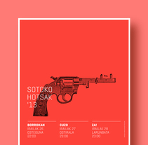 Sotoko Hotsak '13. A Illustration, and Graphic Design project by La caja de tipos  - 29-08-2013