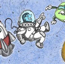Galaxia   Ilustra para cuento infantil. Um projeto de Ilustração de Gonzalo Soto Silva         - 07.10.2013