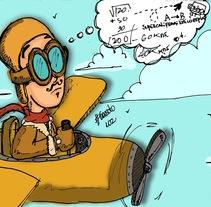 Teniente Bello (Diseño de personaje). Um projeto de Ilustração de Gonzalo Soto Silva         - 11.10.2013