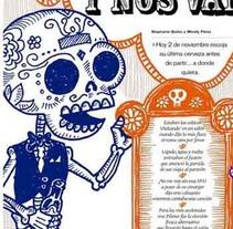 La última cerveza. Un proyecto de Diseño e Ilustración de allangraphic  - Lunes, 28 de octubre de 2013 06:49:25 +0100