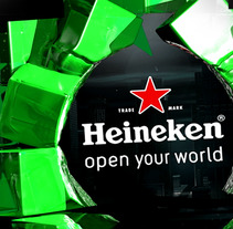 Heineken Video Mapping . A Design, Illustration, Advertising, Motion Graphics, Installations, Film, Video, TV, and 3D project by Carlos Cabrera Olayo         - 28.10.2013
