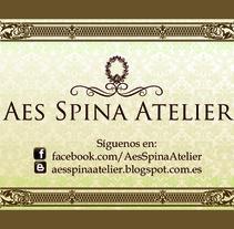 Targeta Aes Spina Atelier. Un proyecto de Diseño, Ilustración y Diseño gráfico de Marta Arévalo Segarra         - 03.11.2013