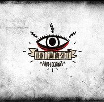 24 / 7 Producciones // Logo. Un proyecto de Diseño de Tony Raya  - Jueves, 23 de enero de 2014 00:00:00 +0100