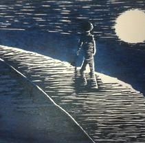 Grabado en contrachapado a dos tintas. Um projeto de Ilustração de Sandra Arroyo de Lucas         - 19.11.2013