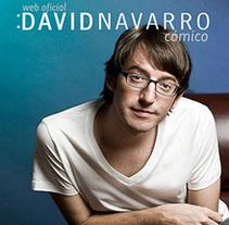 Web Oficial del cómico David Navarro. Um projeto de Design, Desenvolvimento de software e UI / UX de Jorge Exposito - 05-10-2013