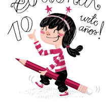 Felicitación 10º Aniversario -Asociación de Ilustradores de Euskadi-. A Illustration project by Nuria  - 08-12-2013