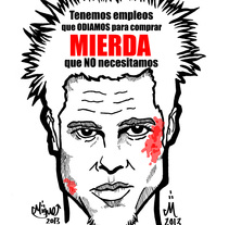 TYLER DURDEN. A Illustration project by Miguel Bueno Herrero         - 12.12.2013