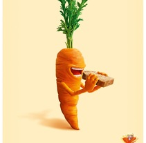 Vegetales Pan Bimbo . A Illustration, and Advertising project by Gustavo Vargas Tataje - 17-12-2013