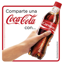 Comparte una Coca-Cola. A Design, Illustration, Advertising, Art Direction, Design Management, Editorial Design, Events, Graphic Design, Marketing, and Packaging project by Álvaro Infante - 31-10-2013