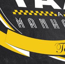 """Branding Taxi a Manhattan """"Downtown restaurant"""". Un proyecto de Diseño, Ilustración, Publicidad, Instalaciones y Fotografía de Sergio Patier         - 01.12.2013"""