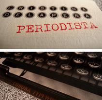 Curriculum Vitae para periodista.. Um projeto de Design gráfico de Sara Morenas Blanco         - 31.10.2012