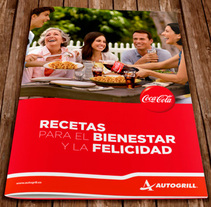 Coca-Cola - Recetas Autogrill. A Design, Illustration, Advertising, Art Direction, Design Management, Editorial Design, Graphic Design, and Marketing project by Álvaro Infante - 31-08-2013