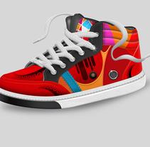 Render zapatillas deportivas. Un proyecto de Diseño, Ilustración, Dirección de arte, Diseño gráfico, Diseño industrial, Diseño de producto y Diseño de calzado de Luis Gomariz - 05-02-2014