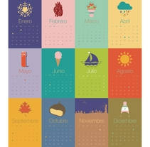 Calendario VICEVA 2014 . A Design, Illustration, Editorial Design, and Graphic Design project by Eva Secades         - 10.02.2014