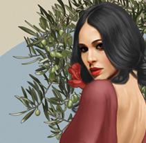 Aceite La Malagueña. Un proyecto de Ilustración y Packaging de javier domenech         - 10.02.2014