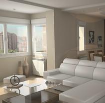3D Proyecto salón. Un proyecto de 3D, Arquitectura interior y Diseño de interiores de Sergio Fernández Moreno         - 11.02.2014