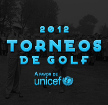 carteles Torneos a favor de Unicef 2012. A Advertising, Art Direction, and Graphic Design project by Iban Vaquero          - 07.05.2012