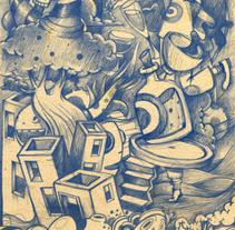 Un boceto muy muy muy largo.. Un proyecto de Bellas Artes, Dirección de arte e Ilustración de Óscar Lloréns - Miércoles, 19 de febrero de 2014 00:00:00 +0100