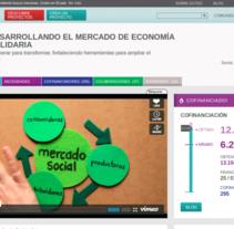 Mercado Social: colaboración  en  la difusión de la campaña de crowdfunding en Goteo. A Advertising project by Punto Abierto   - 06-11-2012