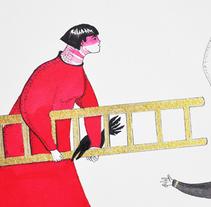 La escalera dorada / The golden stairs. Un proyecto de Ilustración, Bellas Artes y Pintura de Sonia Alins Miguel - 26-02-2014