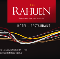 Menú Hotel Rahuen - Carpintería - San Luis. A Graphic Design project by German Girardi         - 26.06.2013