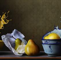 Naturaleza viva - Pintura digital realizada con los dedos en el Ipad . Un proyecto de Ilustración, Bellas Artes y Pintura de Jaime Sanjuan Ocabo - 27-02-2014