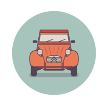 Classic utility vehicles icon design thumbnail