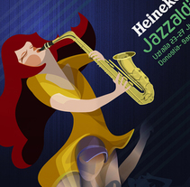 Propuesta de cartel para Jazzaldia 2014. A Illustration project by Nomadic Blink         - 03.03.2014