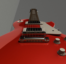 Gibson Les Paul & Marshall Amplifier. A 3D project by Pietrangelo Manzo         - 04.03.2014