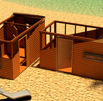Wooden Beach . A 3D, and Architecture project by Raúl Ruiz Sánchez - 04-03-2014