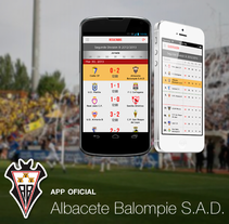 app Albacete Balompie. A Br, ing, Identit, and Graphic Design project by Rocio Cano         - 10.03.2014