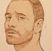 Michael Fassbender. Un proyecto de Ilustración de Judith González         - 24.03.2014