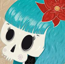 Skull ♥ Love. Un proyecto de Diseño, Ilustración e Ilustración vectorial de Irene Ibáñez Gumiel - 31-03-2014