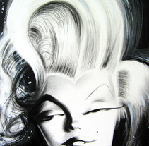 Marilyn. A Painting project by luis silva - Oct 10 2012 12:00 AM