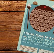 Cartel Festival Solidari Nit de Reis. Un proyecto de Diseño gráfico e Ilustración de Carolina Carbó - Viernes, 04 de abril de 2014 00:00:00 +0200