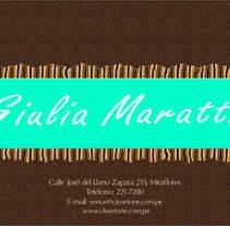 Lanzamiento Giulia Maratti. Um projeto de Publicidade e Design gráfico de Martha Midori nicolas huaman         - 02.01.2013