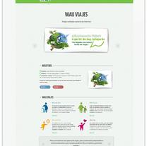 Wau Viajes. Um projeto de Web design de Cristina  Álvarez  - 08-06-2013