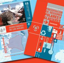 Hoja Block Año Polar Internacional 2007-2009. A Design, and Graphic Design project by Julieta Giganti         - 28.02.2011