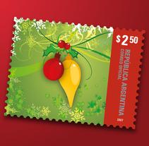 "Entero postal ""Felices Fiestas"". A Graphic Design project by Julieta Giganti - 31-07-2010"