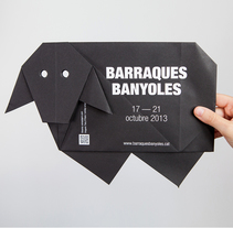 Origami Poster Barraques Banyoles. A Design, Graphic Design, and Screen-printing project by Anna Pigem         - 23.10.2013