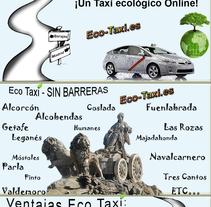¡Viajar por Madrid! Taxi ecológico. A Advertising, Marketing, and Web Design project by Alex de la Cruz  - 17-04-2014