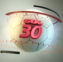 Cabecera Gol 30. Um projeto de Cinema, Vídeo e TV, 3D, Animação, Br e ing e Identidade de Marc Vilarnau - 18-04-2014